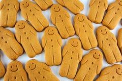 Close up of gingerbread man cookies Stock Photos