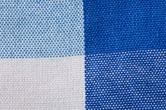 Close-Up of Gingham Fabric Stock Photography