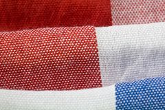 Close-Up of Gingham Fabric Royalty Free Stock Image
