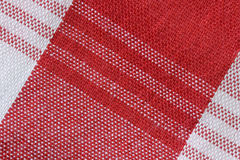 Close-Up of Gingham Fabric Stock Image