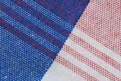 Close-Up of Gingham Fabric Royalty Free Stock Photo