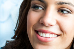 Close up of girl with charming smile Stock Photo
