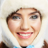 Close up girl face. Beauty portrait. Female young model Royalty Free Stock Photography