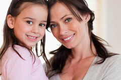 Close up of a girl and her mother Royalty Free Stock Image