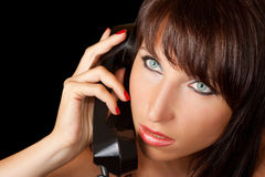 Close up of girl with phone Stock Image