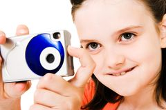 Close-up of girl photographing Royalty Free Stock Images