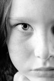 Close up of girl's eye stock photo