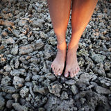 Close-up: girl's legs Royalty Free Stock Images