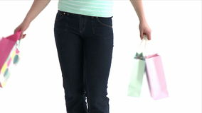 Close up of a girl with shopping bags Stock Images