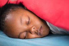 Close up of girl sleeping on bed Royalty Free Stock Photo