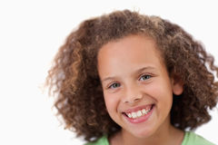 Close up of a girl smiling at the camera Royalty Free Stock Images