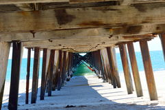 Under the Boardwalk Royalty Free Stock Photos