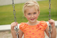 Close-up of girl on swing Royalty Free Stock Images