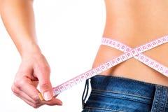 Close up of a girls waist.Weigh loss concept. Stock Image