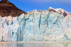 A close-up of glacial blue ice Stock Photos