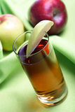 Close up of glass with apple juice Stock Image
