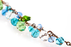 Close up on a glass beads chain Stock Image