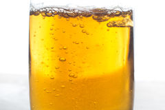 Glass of beer isolated on white background Royalty Free Stock Photography