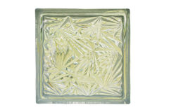 Close up of glass block isolate, with clipping path Royalty Free Stock Image