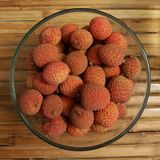 Lychee Bowl Royalty Free Stock Photos