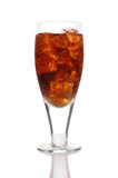 Close up of a glass of cola and Ice Stock Images