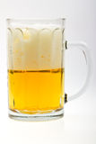 Close-up glass of fresh beer drink with bubbles Royalty Free Stock Photo