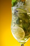 Close-up of glass with lemonade royalty free stock images
