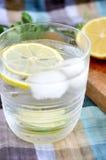 Close up glass of lemonade Stock Photo