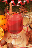 Close up glass of mulled wine Royalty Free Stock Photography