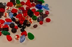 Glass and Plastic Beads Royalty Free Stock Photo