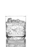 Close up of a glass of Water and Ice Royalty Free Stock Photos