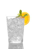 Close up of a glass of Water and Ice Royalty Free Stock Images