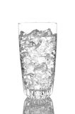 Close up of a glass of Water and Ice Royalty Free Stock Photo
