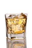 Close up of a glass of whiskey and Ice Royalty Free Stock Photo