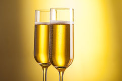 Close up glasses of champagne Royalty Free Stock Images