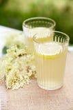 Close up glasses of elderflower lemonade Stock Photo