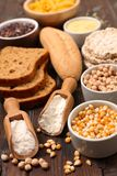Gluten free food. Close up on gluten free food stock photos