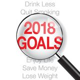 Close-up on 2018 goals. New Year is coming, wish you all the best as always in this coming new year Stock Images