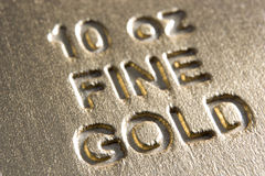 Close-Up Of Gold Bar Stock Photography