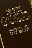 Close up of gold bar Stock Photos