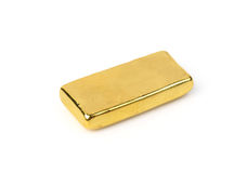 Close up of gold bar  on white background Stock Images