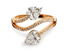 Close up of a Gold and Diamond ring. Stock Images