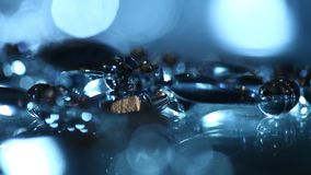 Close up of Gold jewelry stock footage