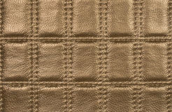 Close Up Gold Leather Background stock photos
