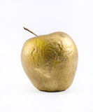 Close up golden apple on a white background Royalty Free Stock Photo