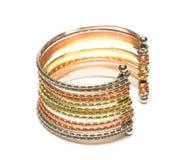 Close-up of golden bracelet Royalty Free Stock Photos