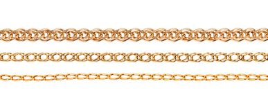 Golden chain set Royalty Free Stock Photography