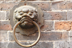Close up Golden Chinese Old Door Royalty Free Stock Photo