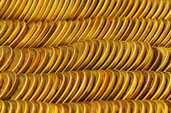 Close up of the golden coin Royalty Free Stock Image
