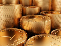Close-up golden coins Royalty Free Stock Photography